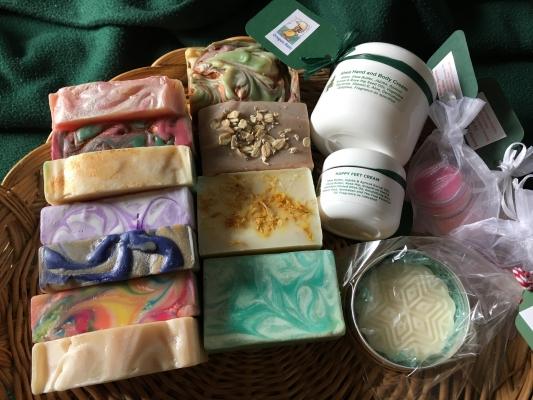 Bodycare, including soaps, creams - Barb Marlatt, Cedar Knoll Body Care