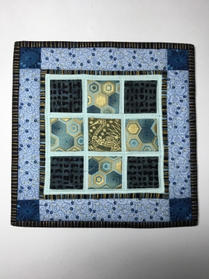 Quilted wallhangings, other items - George Carroll